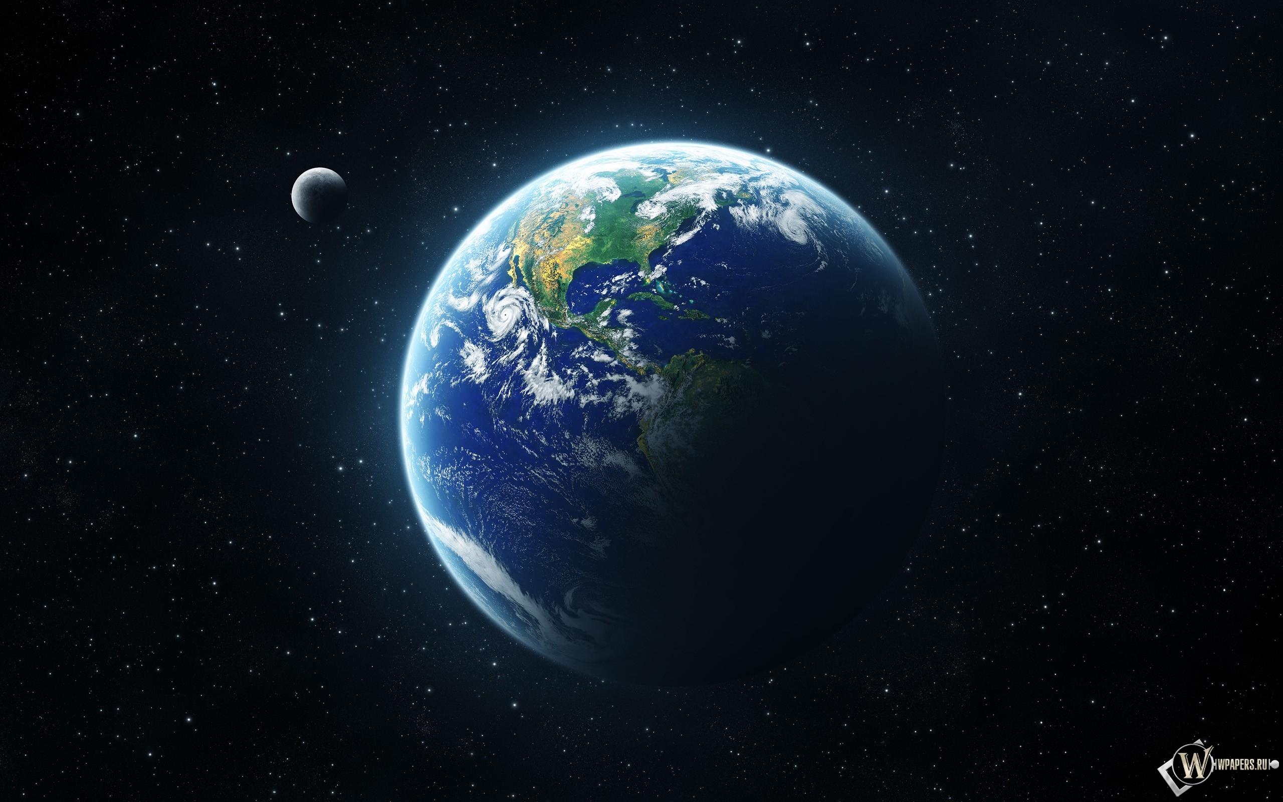 Обои на рабочий стол земля в космосе