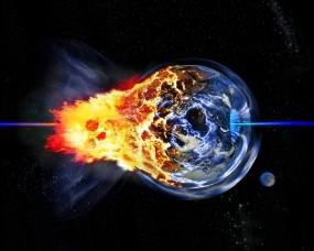 Обои Взрыв планеты: Планета, Взрыв, Катастрофа, Космос