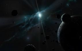 Обои свет звезды: Планеты, Астероиды, Звезда, Туманность, Космос