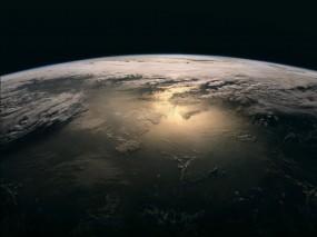Обои Земля: Облака, Темнота, Земля, Планета, Earth, Космос