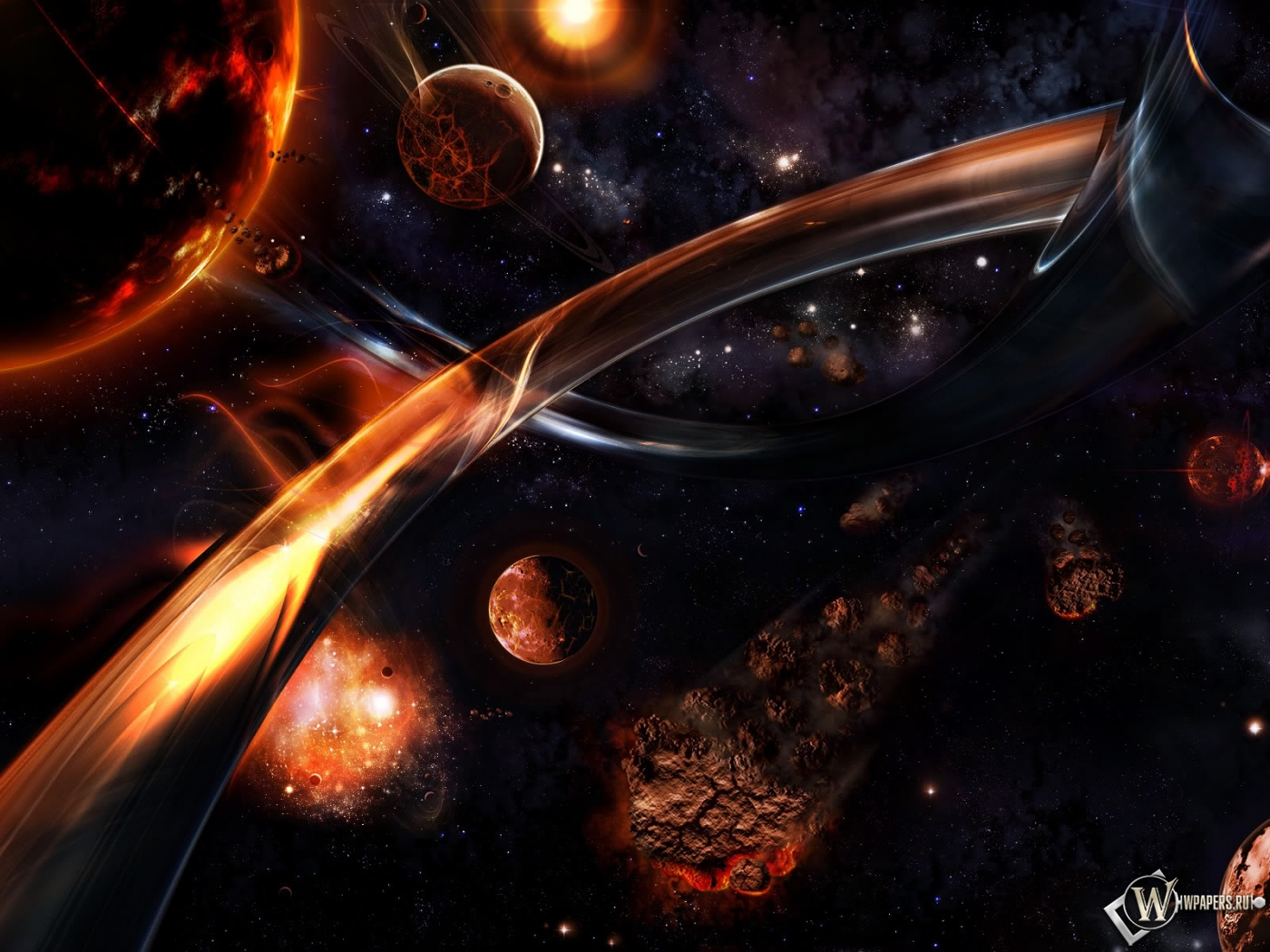 Обои фентези космос планеты звёзды