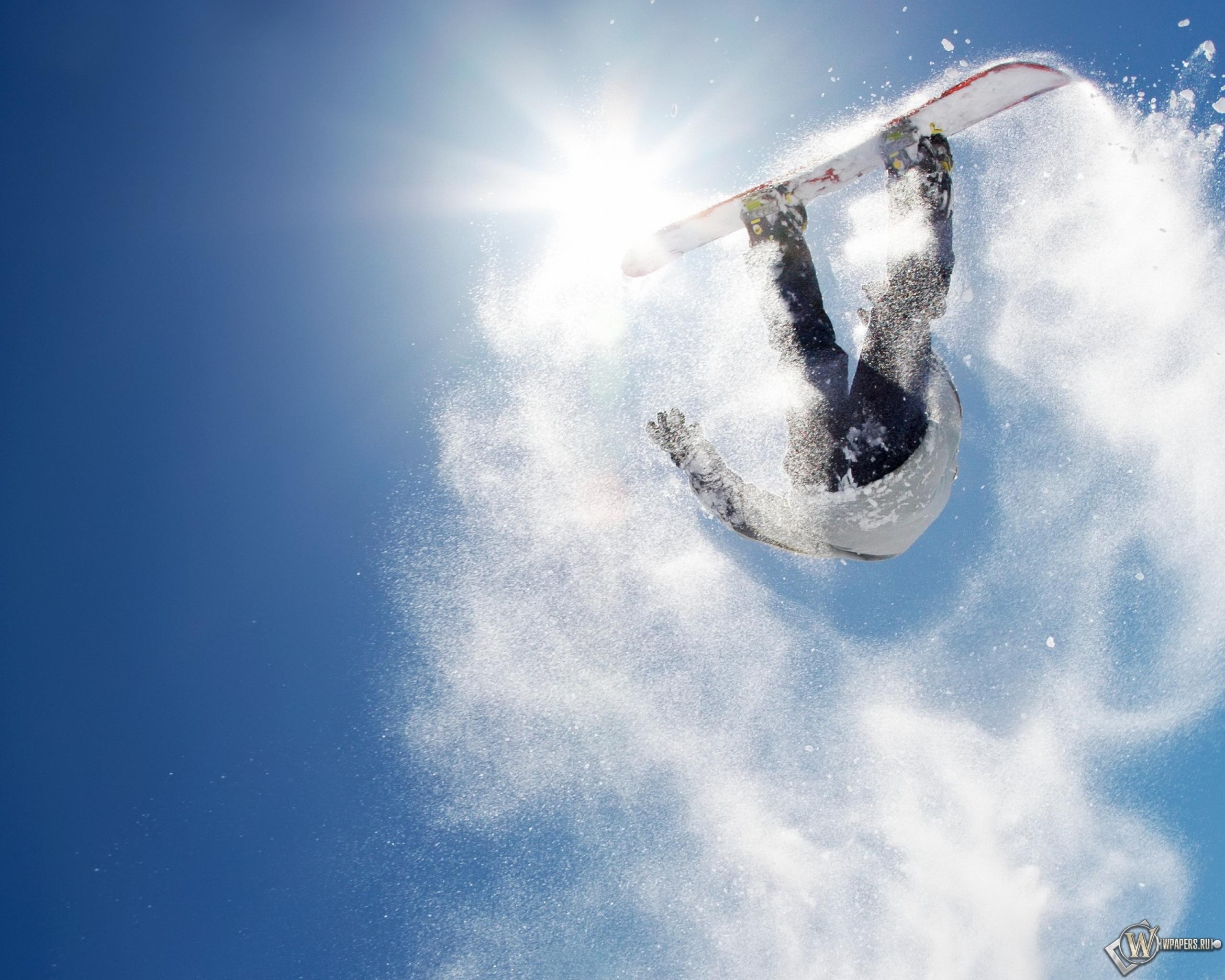 сноубордист прыжок горы  № 3300565  скачать