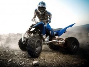 Обои Yamaha raptor 450: Спорт, Квадроцикл, Гонщик, Спорт