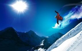 Обои Сноубординг: Снег, Солнце, Спорт, Сноуборд, Спорт