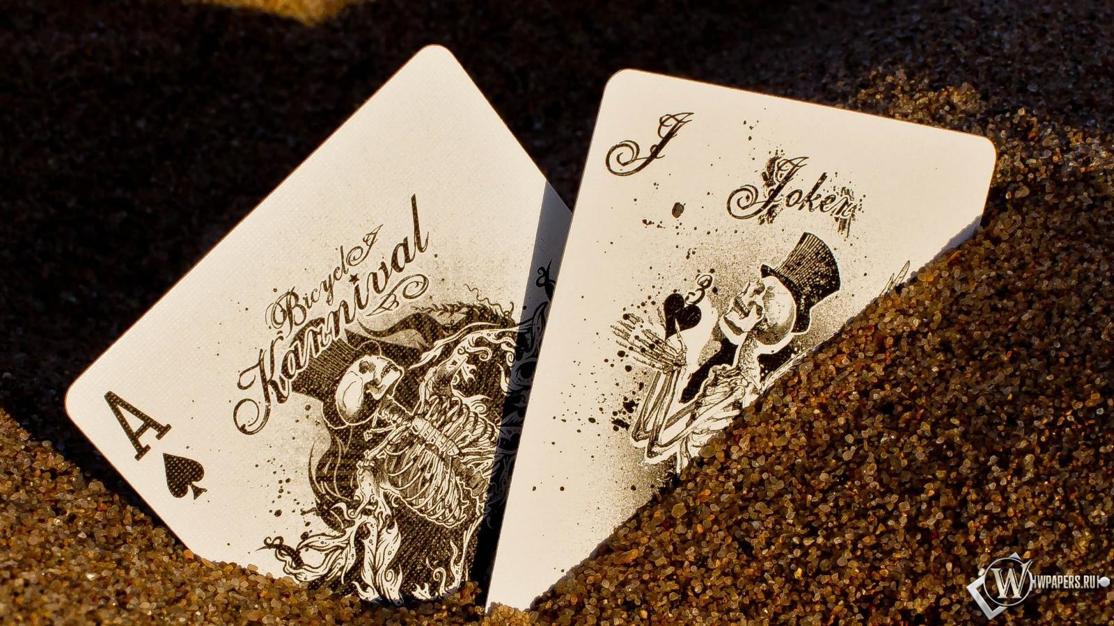 Карты покер азарт 1600x900 картинки