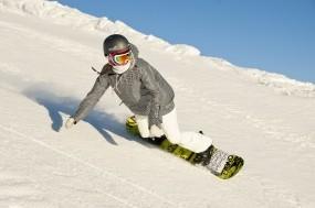 Обои Девушка на сноуборде: Зима, Снег, Девушка, Сноуборд, Сноубордист, Спорт