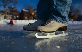 Обои На катке: Зима, Спорт, Джинсы, Коньки, Каток, Спорт