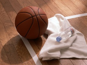 Обои Баскетбольный комплект: Полотенце, Мяч, Баскетбол, Спорт