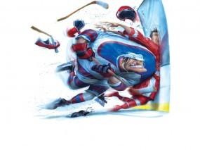 Обои Жестокий Хоккей: Клюшка, Хоккей, Коньки, Спорт