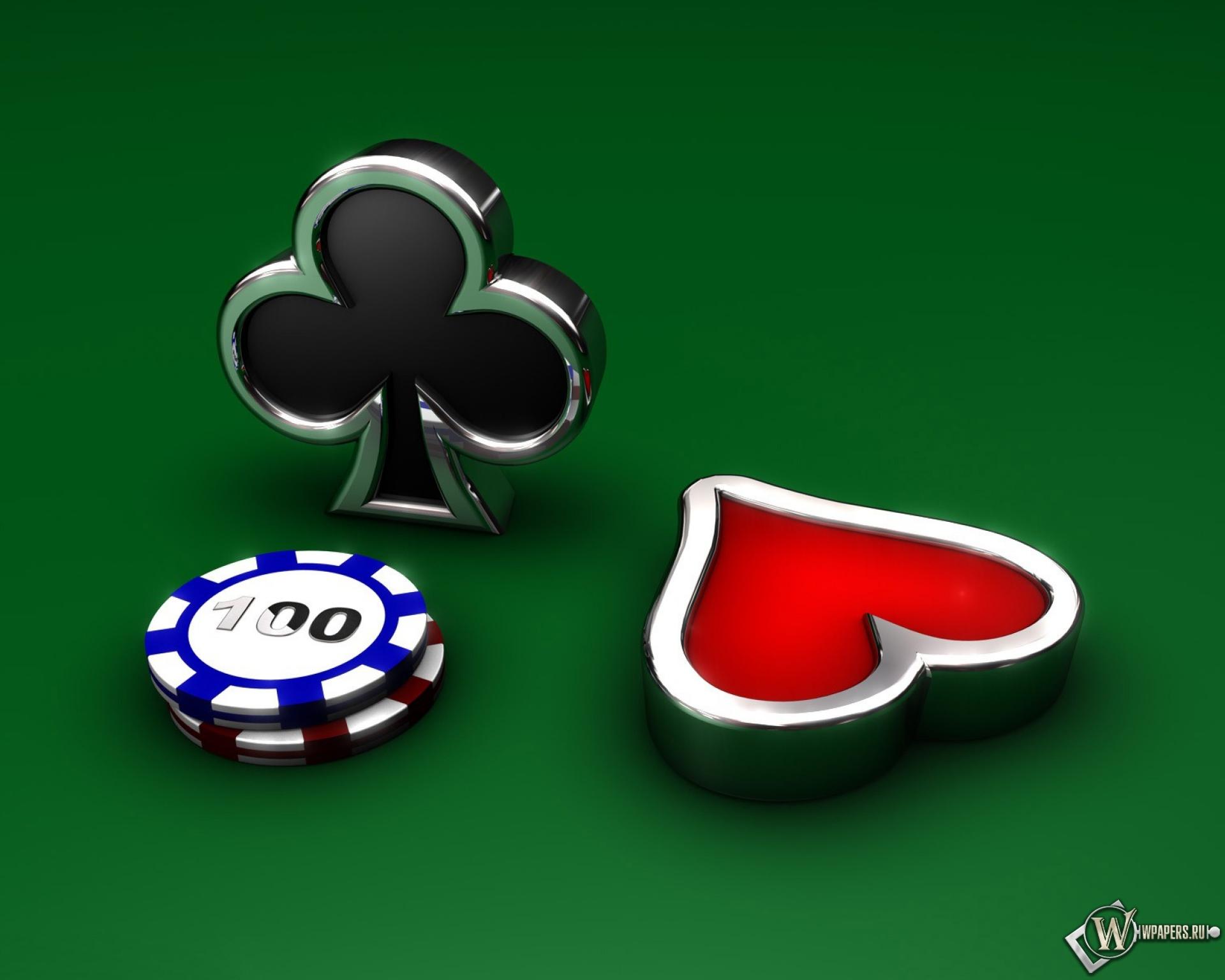 Обои покерные фишки на рабочий стол с