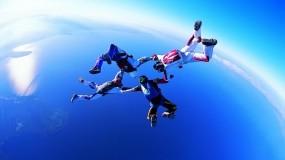 Обои Свободное падение: Спорт, Прыжок, Парашют, Спорт