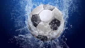 Обои Футбольный мяч: Вода, Брызги, Спорт, Футбол, Мяч, Спорт
