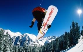 Обои Snowboarding jump: Сноуборд, Экстрим, Sport, Сорт, Спорт