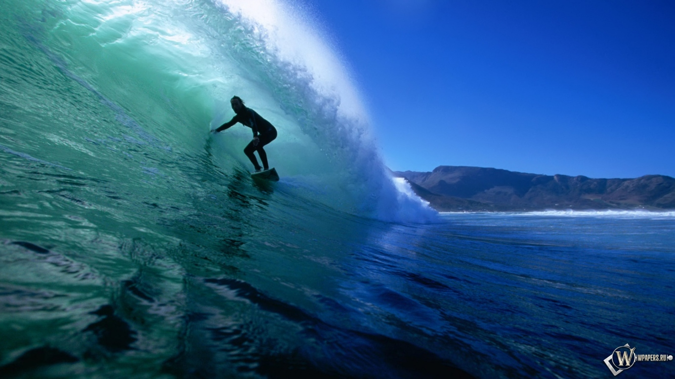 Обои серфинг спорт сёрфинг 1366x768