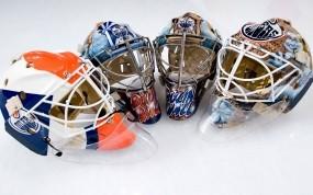 Обои Хоккейные Шлемы: Лёд, Хоккей, Маски, Спорт