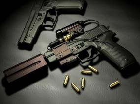 Обои Handgun: Патроны, Оружие, Пистолеты, Оружие