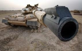 Обои Дуло танка: Дуло, Танк, Прицел, Оружие