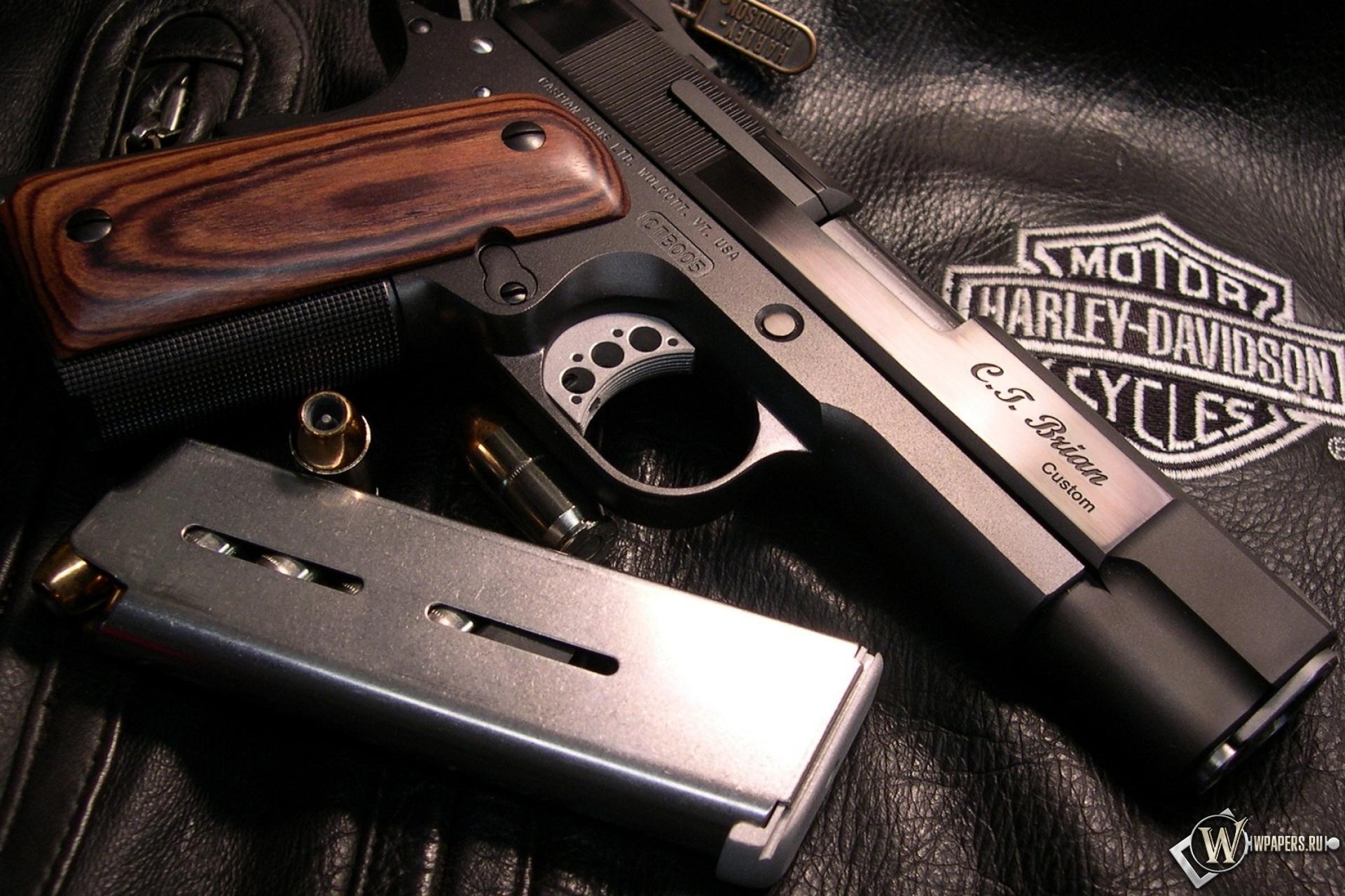 Обои colt m1911 rail gun пистолет colt 1920x1280