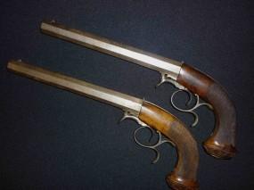 Обои Дуэльные пистолеты 40-50 годы XIX века: Пистолеты, Оружие