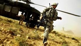Обои М4А1: Вертолет, Оружие, Автомат, Солдат, Оружие