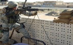 Обои Снайпер: Оружие, Винтовка, Боец, Прицел, Оружие