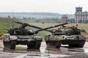 Обои Танец танков Т-90: Оружие, Танк, Оружие