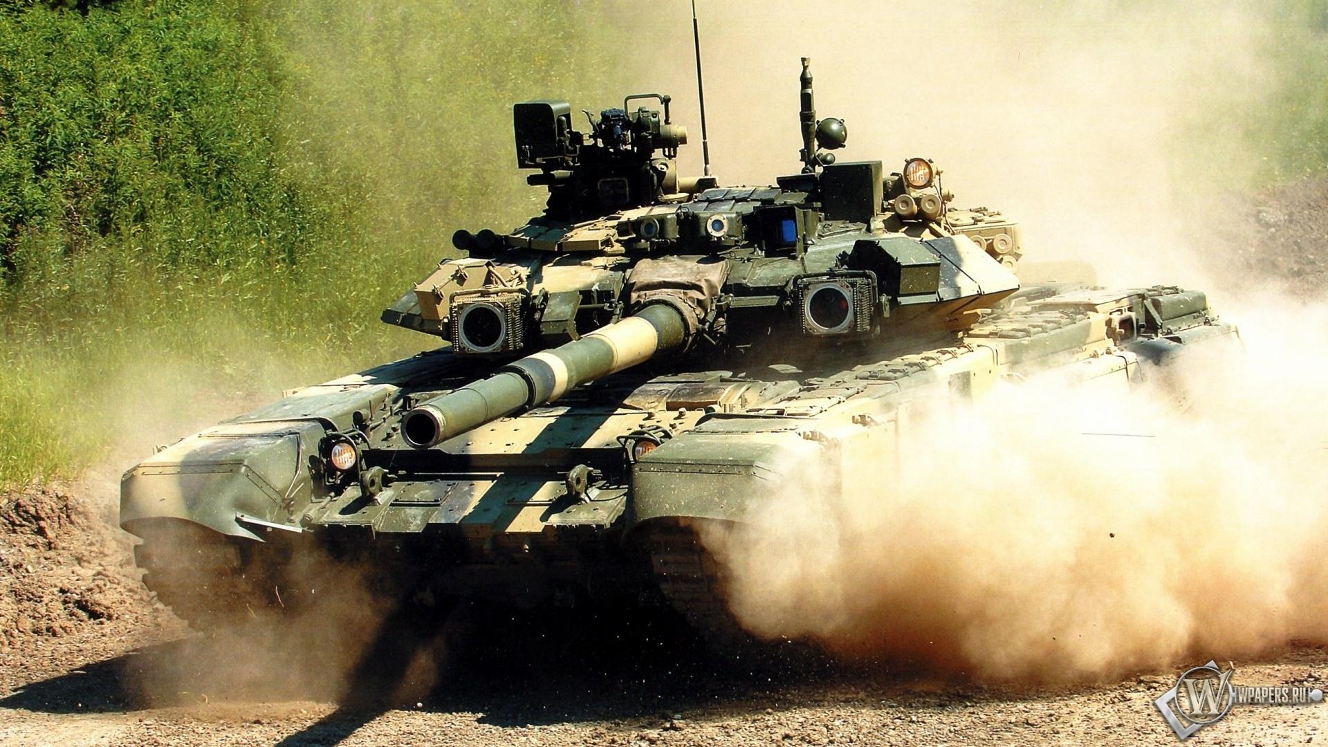 Скачать обои Танк Т-90 (Оружие, Танк) для рабочего стола 1920х1080 ...