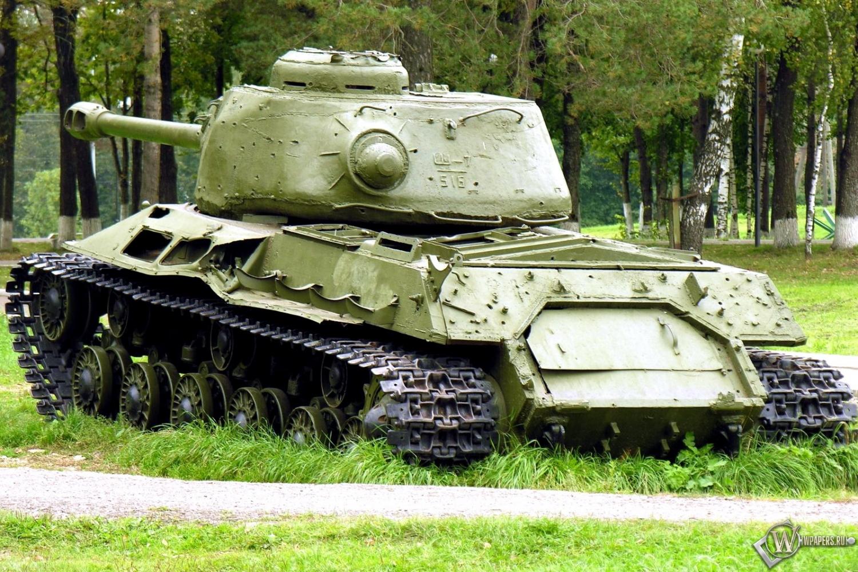 Скачать обои Тяжелый танк ИС-2 (Оружие, Танк) для рабочего стола ...