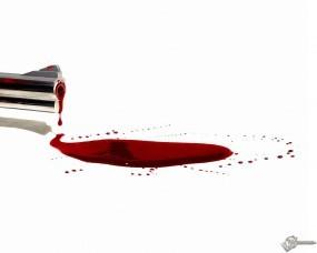 Обои Кровавое дуло: Кровь, Ствол, Дуло, Оружие
