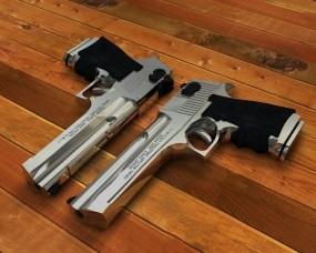 Обои 2 Desert Eagle: Пара, Стрельба, Пистолеты, Desert Eagle, Оружие