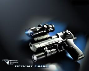 Обои Desert Eagle: Лазер, Пистолет, Desert Eagle, Оптический прицел, Оружие