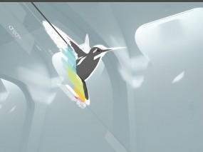 Обои Колибри: Птица, Минимализм, колибри, Птицы