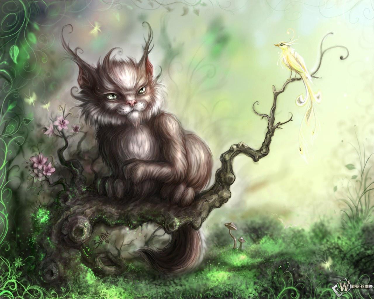 Чеширский кот 1280x1024