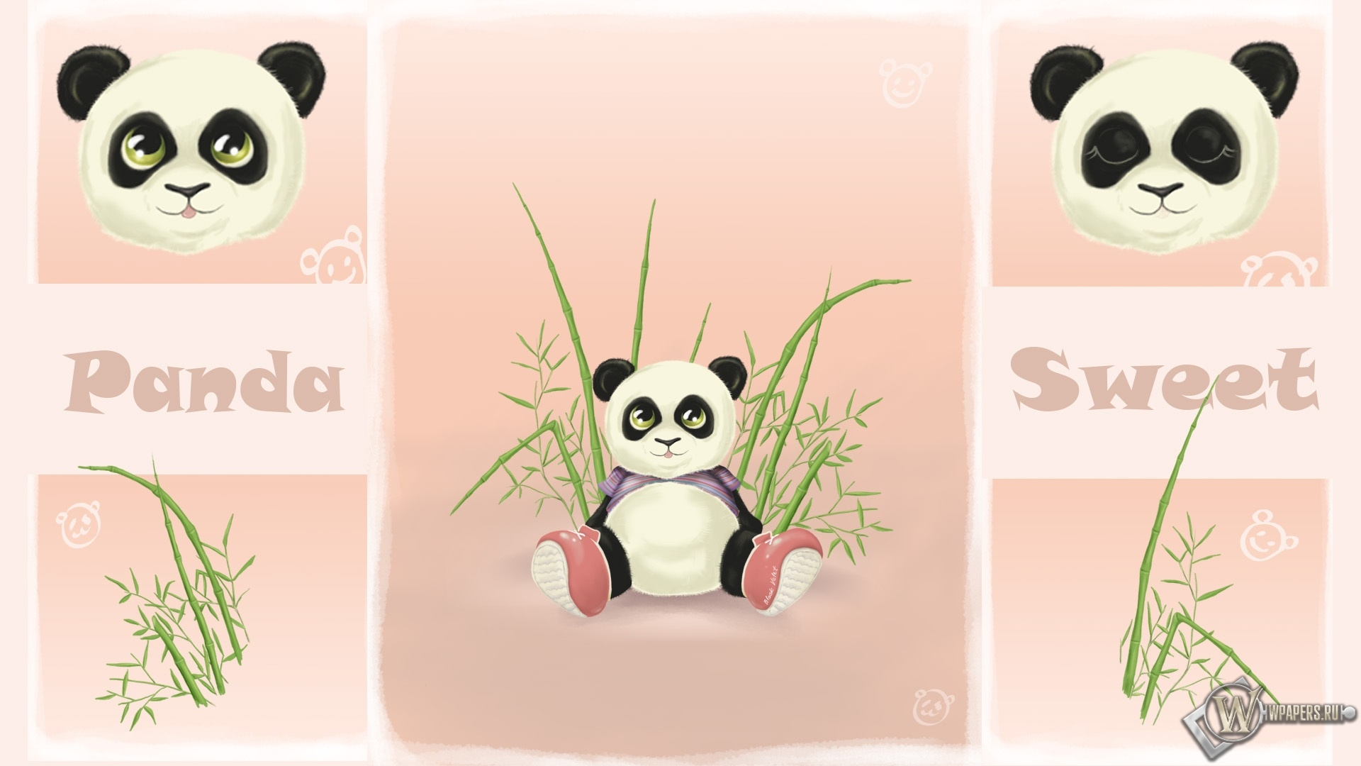 Панда-конфетка 1920x1080