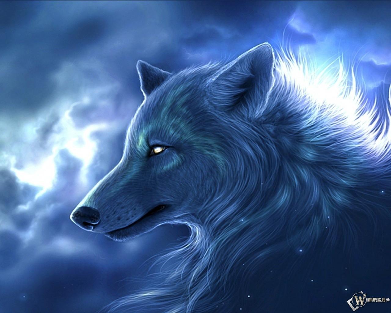 Ночьной волк 1280x1024