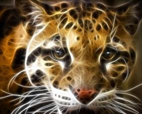 Обои Рисованый тигр: Хищник, Тигр, Дикая кошка, Обработка, Прочие животные