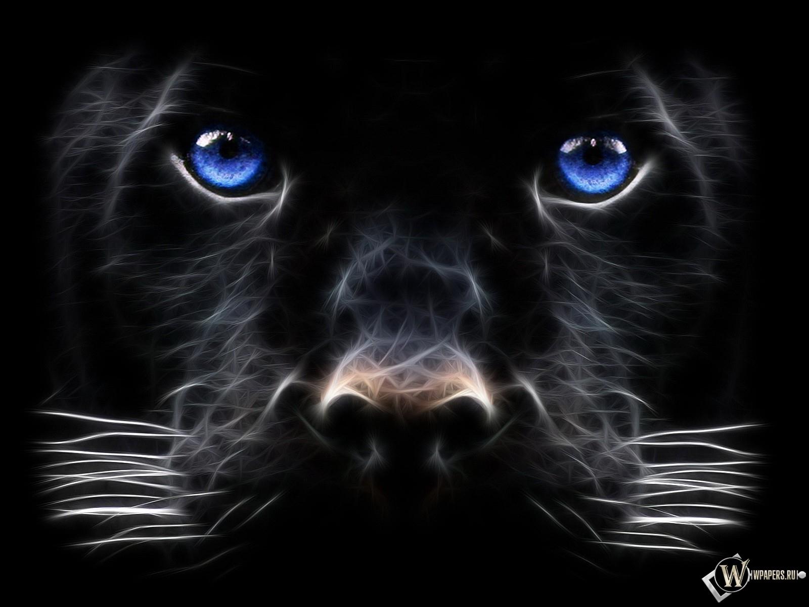 Рисованная пантера 1600x1200