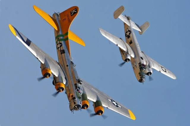 American Boeing B-17 и B-25