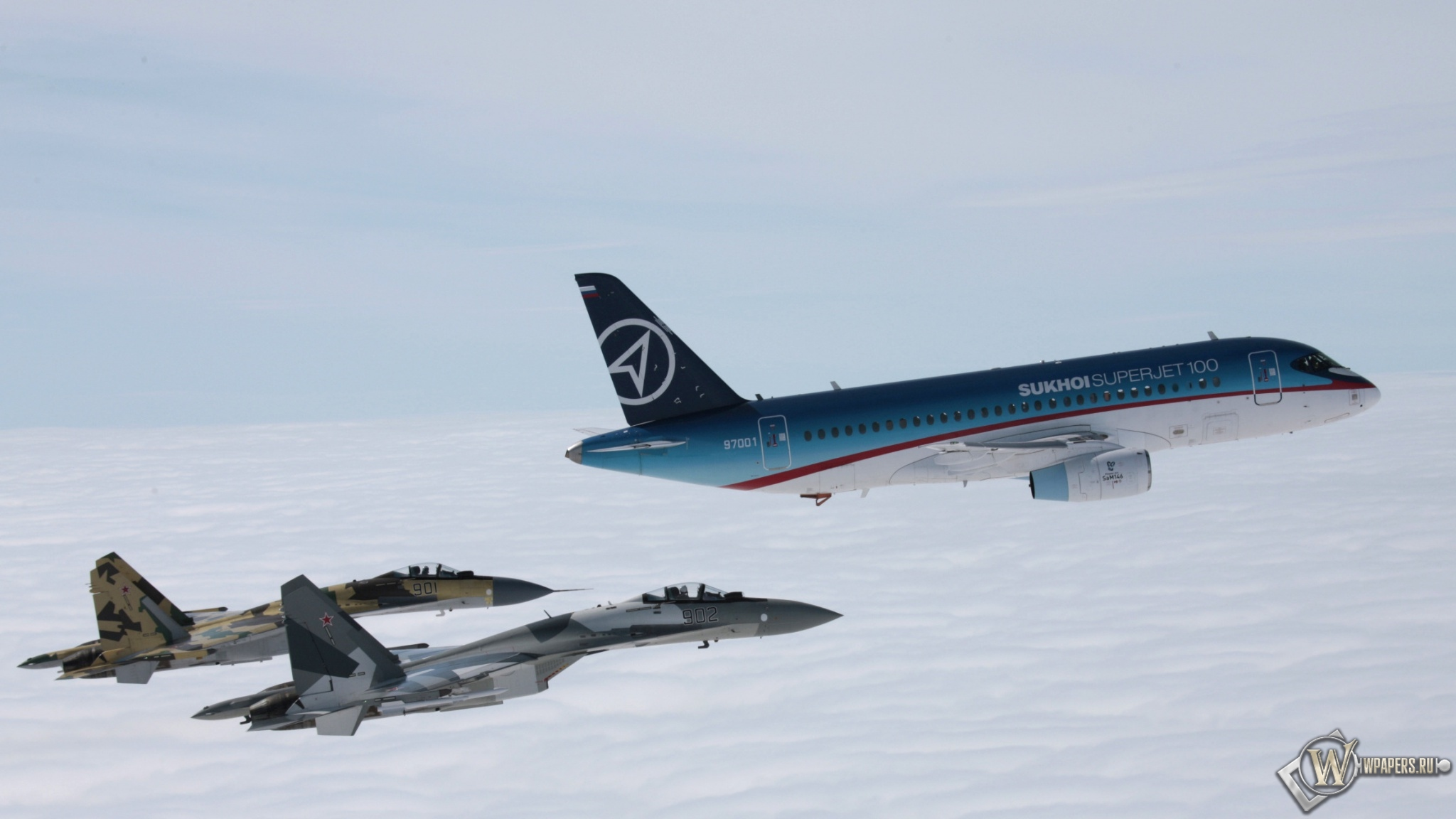 Sukhoi Superjet 100 2048x1152
