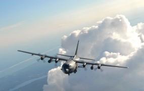 Обои Lockheed AC-130u Spooky: Облака, Полёт, Небо, Самолёт, Lockheed, Самолеты