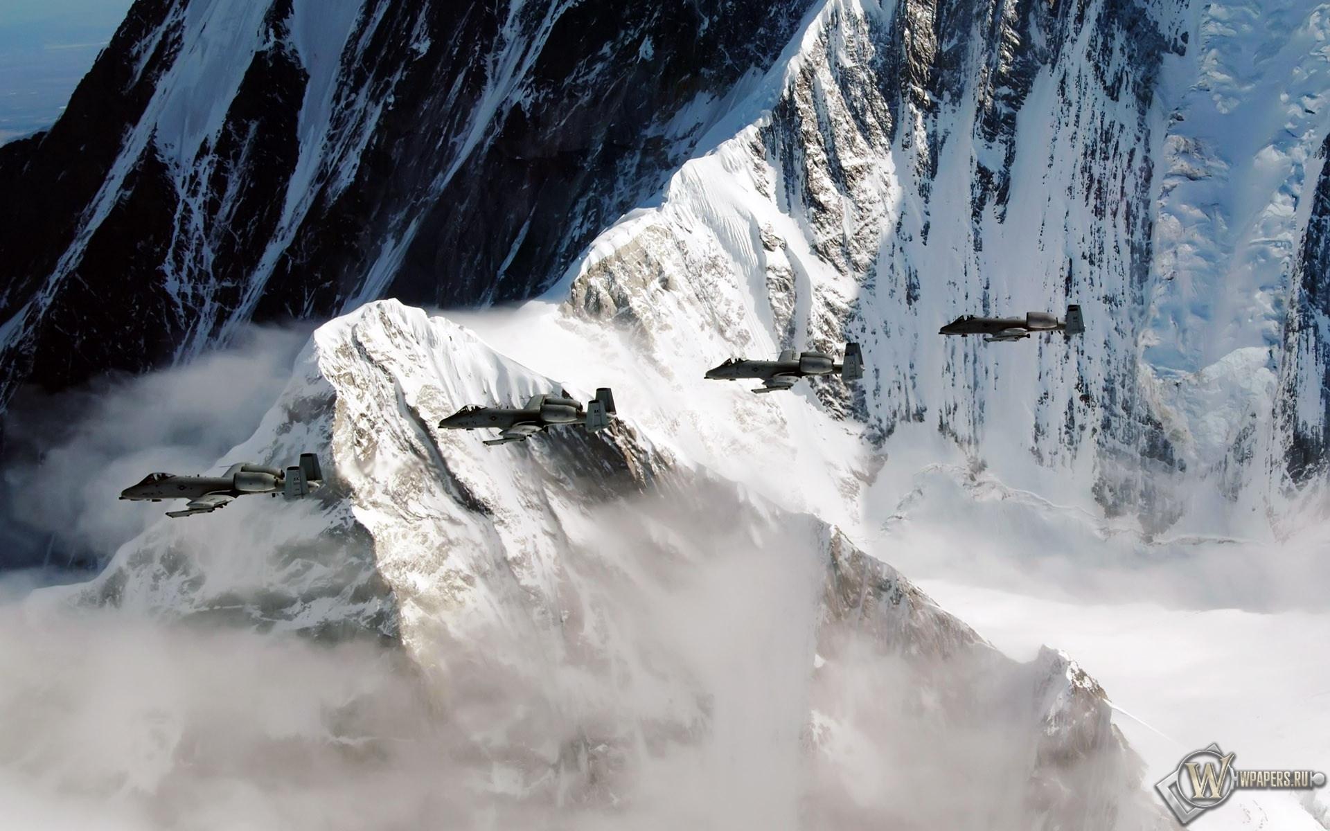 A-10 Thunderbolt на Аляске 1920x1200