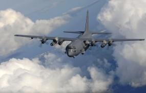 Обои Ac-130: Облака, Полёт, Небо, Самолёт, Ac-130, Самолеты