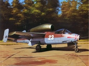 Обои Heinkel He-162 Salamander: Самолёт, Авиация, Самолеты