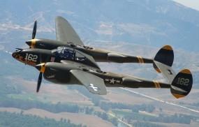 Обои P-38 Lightning: Самолёт, Авиация, Самолеты
