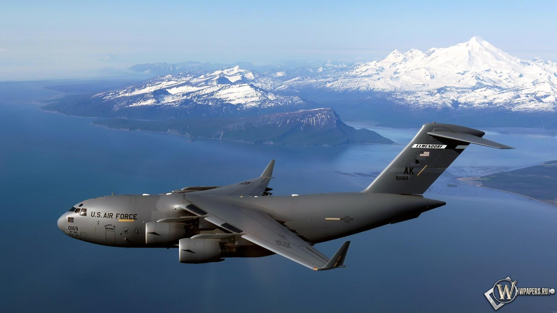 Военный самолет Air Force 1920x1080