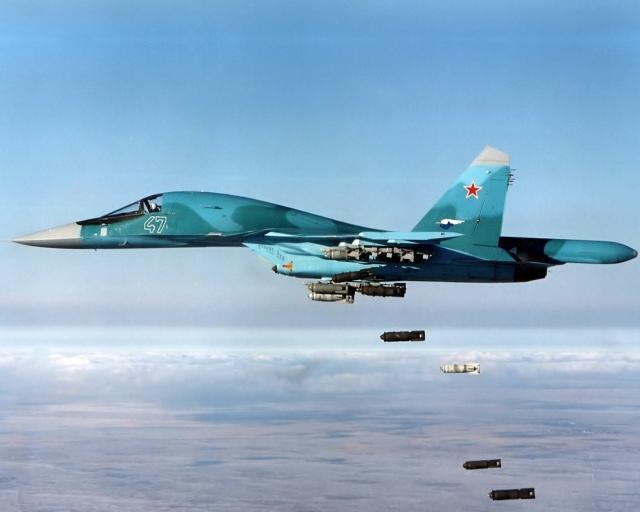 Бомбы из Су 34