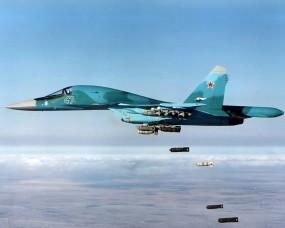 Обои Бомбы из Су 34: Истребитель, Небо, Бомбы, Мощь, Су-34, Самолеты