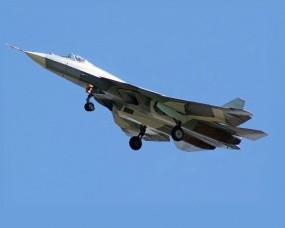 Обои ПАК-ФА: Истребитель, Небо, T-50, Самолеты
