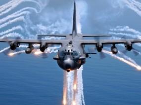 Обои Lockheed AC-130: Вода, Военные самолеты, Небо, Самолёт, Lockheed, Воздух, Самолеты
