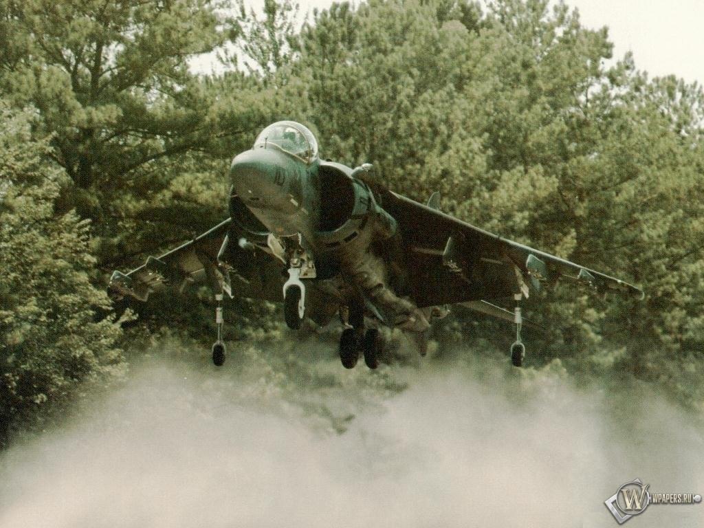Истребитель - вертикальный взлёт Harrier 1024x768
